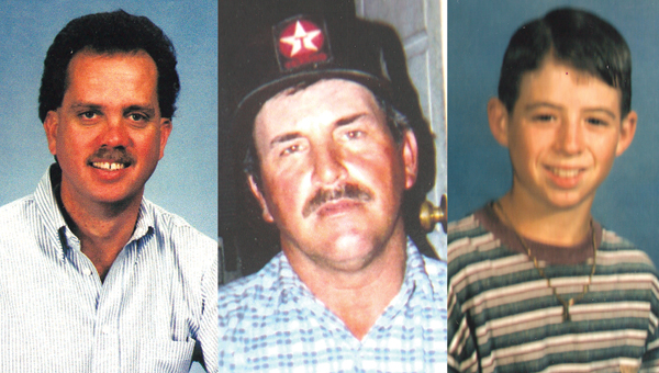 From left, Williams, Cary and Crane were killed when Ethan Dorsey and Calvin Middleton robbed the country store owned by Cary in 1996.