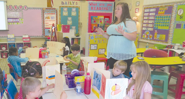 Toni Johnson teaches students in the second grade at Brewton MIddle School - teaching new standards for new testing.