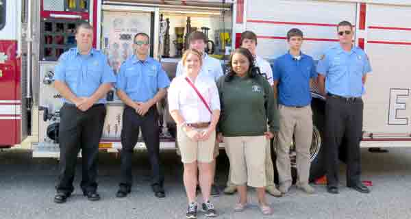 Students in the ECRC public safety cluster class were treated to a visit from members of the Brewton Fire Department last week as a treat for doing well in the class.