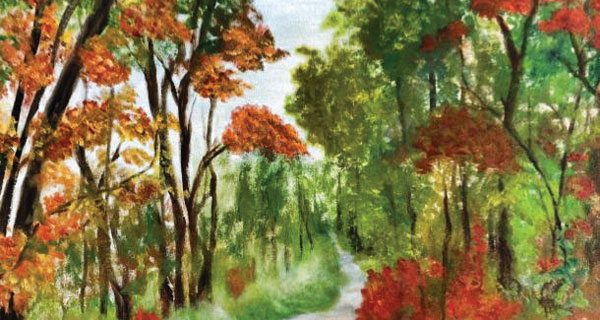 Betty Rigsby's art, shown, will be just one artist participating in Art in the Park next month.