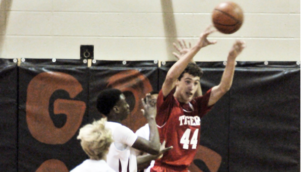 Photo by Andrew Garner/ Andalusia Star-News Brewton's Hayden Atkinson against Andalusia Tuesday night.