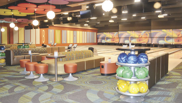 The new entertainment center will include a 16-lane bowling alley.