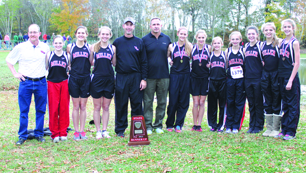 The 2013 girls team with coaches Alan Ash, Rob Atkinson and Scott Huff.  Photo courtesy of Kim Flores