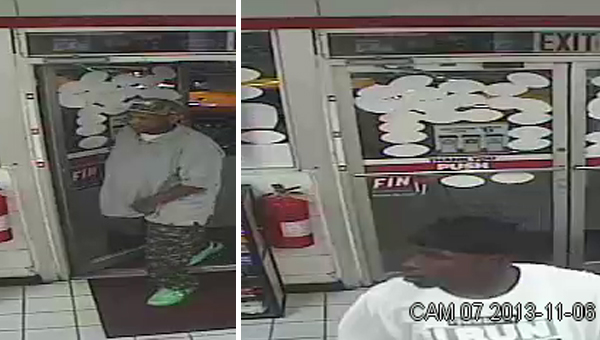 Police are looking for two suspects in a theft earlier this month in Flomaton.