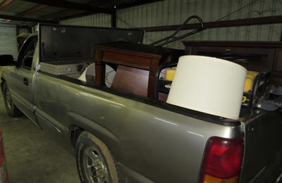 truck with furniture