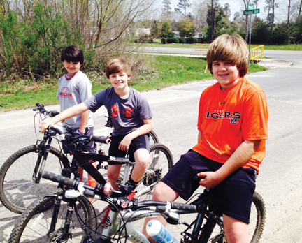 Cam Knapp, McGowin Bethea and Gibb Roberts were spotted riding the roads and soaking up sunshine on Monday - the first day of spring break for area students. Email your spring break fun photos to stephanie.nelson@brewtonstandard.com.