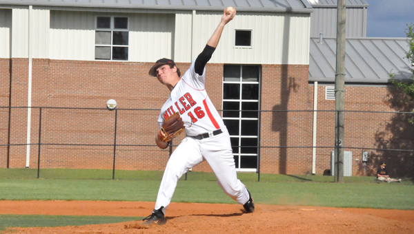 Tripp Floyd pitches in game two's win Saturday against Excel.