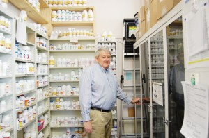 Danny Cottrell stands inside Brewton Medical Center Pharmacy.