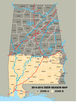 2014-15 Deer Season Zone Map (State Wide)-300dpi