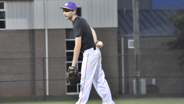 LSU's Lane Clark earned the pitching win against Arkansas Tuesday night.