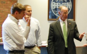 Gov. Bentley addresses local business owners.
