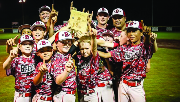 Brewton's 10U team won the district title in Opp several weeks back. Now they have their eyes set at the state title. Photo by Joe Lee Sports Photography
