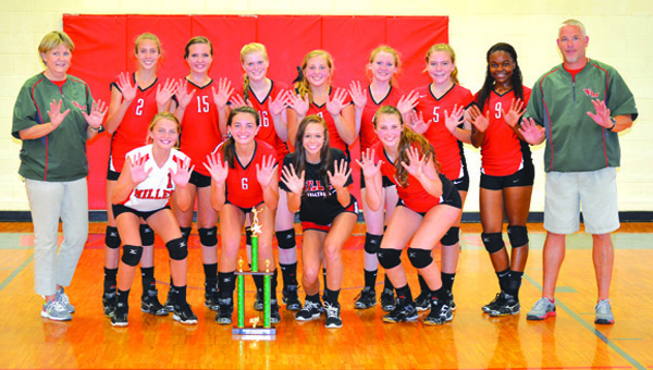 TRM vball with trophy