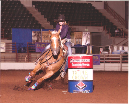 Brooke Odom rides in a recent rodeo. She and others will be in Brewton this weekend at the Chamber's PCA rodeo.