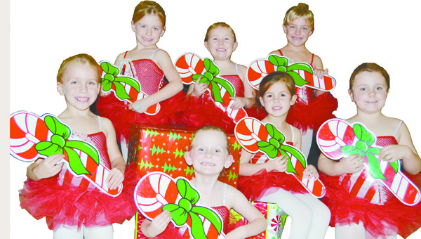 Peppermints in the Sunday performance of The Nutcracker are Addisyn Bedsole, Rosa Grace Chavers, Madison Joiner, Summer Lassiter, Rayni McClelland, Julianne Surles and Lilianne Surles.
