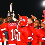 The TRM Tigers won the 2014 version of the Battle of Murder Creek by a score of 18-17 in overtime. The Tigers used a two-point conversion in the OT period to down the Eagles of East Brewton.