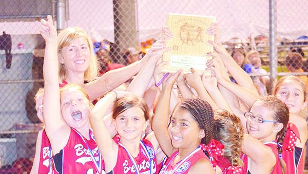 Brewton 8U with trophy