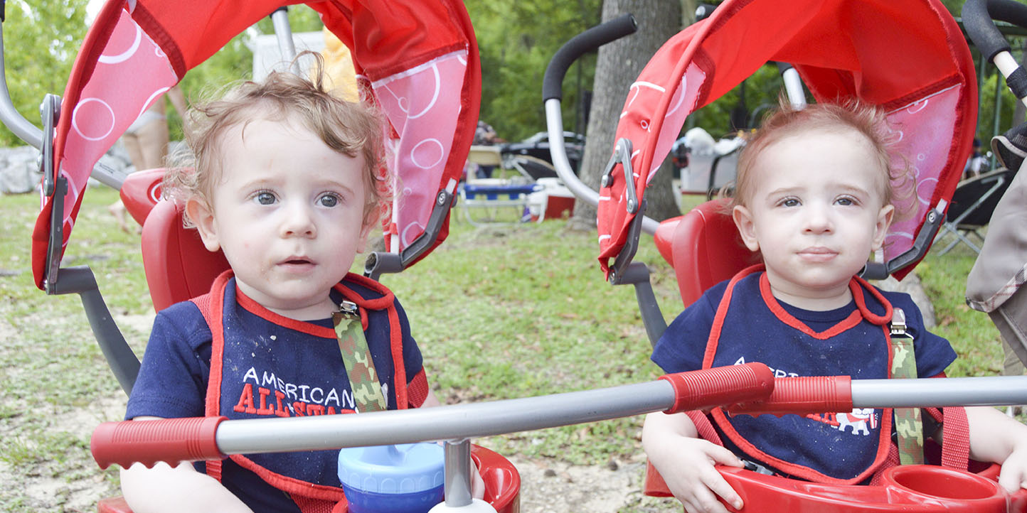 Who needs a fireworks show when the fashion one makes the day? East Brewton's municipal park was filled with adorable faces and outfits during the day's Fourth of July celebration. Here, twins Kaleb and Kameron Thomas were decked out. For more photos, see the print edition.