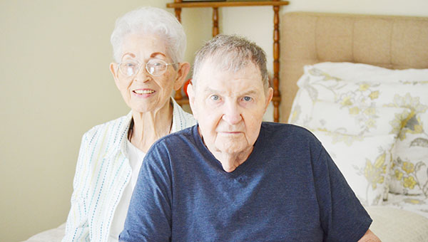 Robert and Bonnie Maxwell inside their new living quarters at Country Place Senior Living.