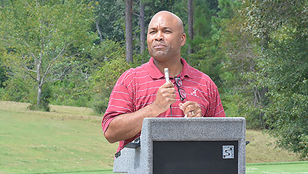 Brewton native and former Alabama quaterback Walter Lewis returned home Thurday for his annual golf tournament