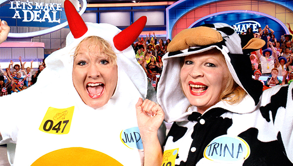East Brewton's Judith 'Jill' Goolsby and her best friend, Trina Brown Lafferty, in their costumes for 'Let's Make a Deal.' Goolsby's appearance will air at 2 p.m. today on CBS.