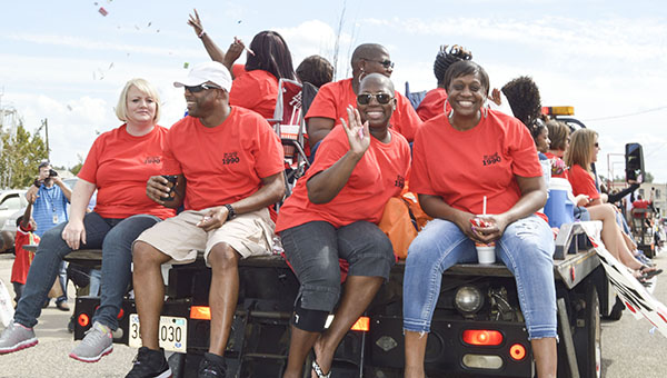 Homecoming at T.R. Miller High School was a two-day event this year celebrated by lots of smiles, as shown here by members of the Class of 1980. For more photos, click here.