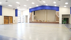 The lunchroom will be used for multiple functions like banquets and events.