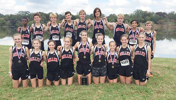 Members of the TRM XC team pose after the day's win.