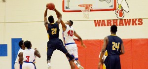 Corey Williams | The Brewton Standard No. 40 Dexter Williams of JDCC goes for the block.