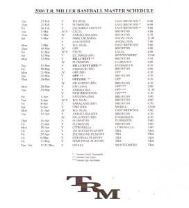 2016 trm baseball schedule
