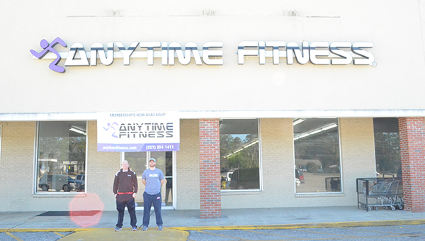 Corey Williams | The Brewton Standard The brothers outside Anytime Fitness. The fitness center is scheduled to open Jan. 20th.