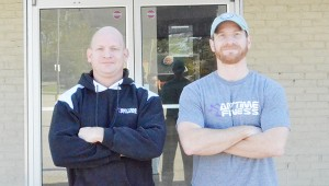 Corey Williams | The Brewton Standard Brothers Mark (right), Nathan (left) and Joel   Ward (not picutred) are bringing  Anytime Fitness to Brewton.