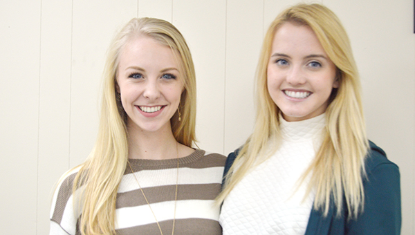 Stephanie Nelson | The Brewton Standard Sara Perkins and Morgan Manning, both T.R. Miller seniors, are representing Clarke and Escambia counties in the state Distinguished Young Women competition.