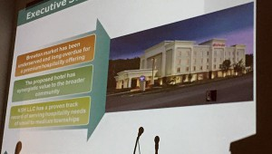 A powerpoint presentation given Monday outlined the company's plan for a new tier 1 hotel in Brewton.