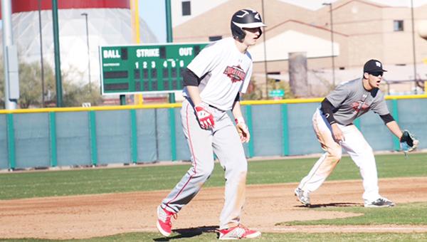 Courtesy photo Williamson takes a lead off third base at the Under Armour Preseason All-American Tournament in Mesa, Ariz.