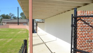 Inside of the away dugout.