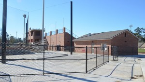 Entrance to the baseball field.
