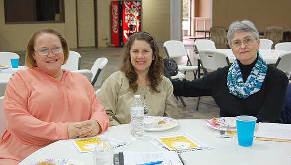 Stephanie Nelson | The Brewton Standard Laura Jones, Norma Halteman and Dr. Marsha Raulerson were among the day's attendees of the 'Minding Our Future' program sponsored by the Escambia County Children's Policy Council.