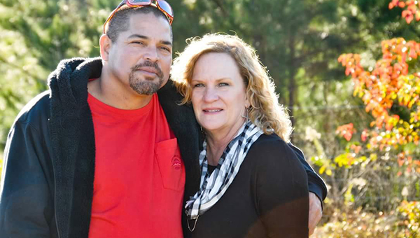 Courtesy photo Tony Tagudar and his girlfriend, Denise, pose for a recent photo. A Saturday fundraiser is set to help raise money for his medical expenses.