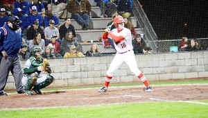 Miller's Tripp Floyd at the plate. Floyd had three RBIs for the night.