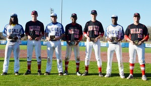 Corey Williams | The Brewton Standard Making the all tournament team from Neal and Miller was (from left to right) Derrick Barton, Jo Jo Booker, Jared Cooper, Jordan Williams, Drew Williamson, Malcolm Hawthorne, and tournament MVP Tripp Floyd.