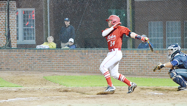 Corey Williams | The Brewton Standard Brittain connects for a triple.