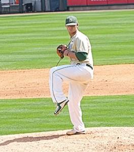 Courtesy photo UAB's Kyle Davis throws off the mound.