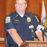 Brewton Chief Monte McGougin delivers the good news Thursday.