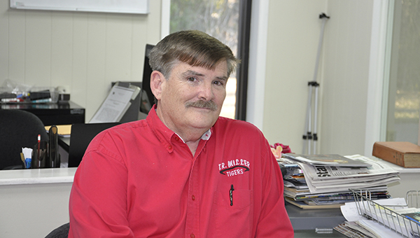 Lydia Grimes | The Brewton Standard TRM's Wade Morris will put away his red grading pens at the end of this school year. He and his wife plan to travel.