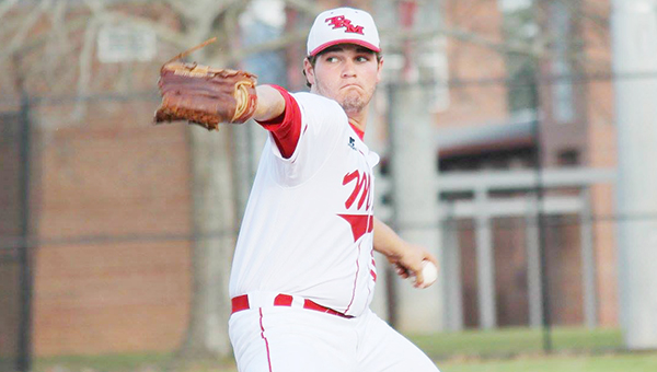 Courtesy photo Tripp Floyd pitches on Monday versus Hillcrest