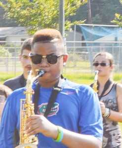 Stephanie Nelson | The Brewton Standard Devon Spencer pictured at his last WSN band camp.