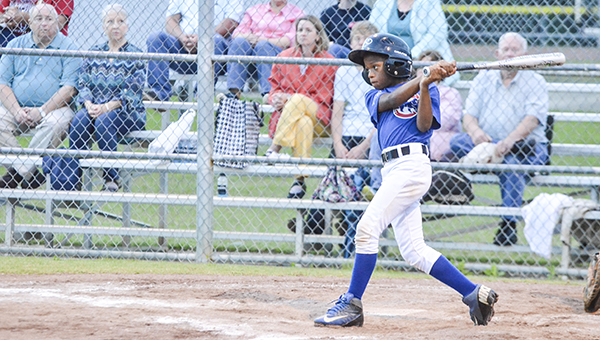 Corey Williams | The Brewton Standard The Cubs E.J. Kelly puts a swing on a pitch.