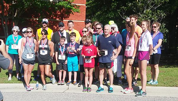 Courtesy photo Winners of the annual DWM Relay 5K.