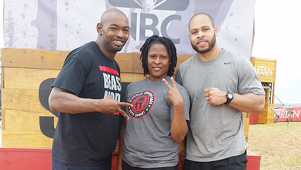 See Johnson (center) compete on the Spartan: Ultimate Team Challenge which will air June 13 at 9 p.m. CST on NBC.